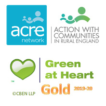 Logos: ACRE, Green at Heart
